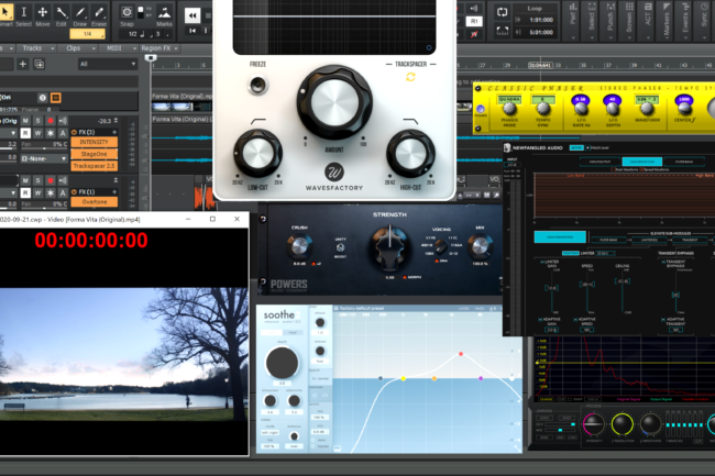 Software and plugins used in Daniel's voice over studio